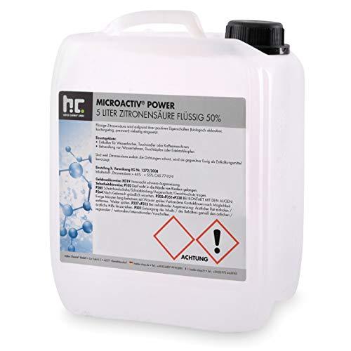 Höfer Chemie 1 x 5 Liter Zitronensäure 50{5bf0e15a87b40d9a57216215fb4c04cbf12e92a2ffbd0994868a164420c1b660} flüssig handlichen 5L Kanister - TECHN. QUALITAET