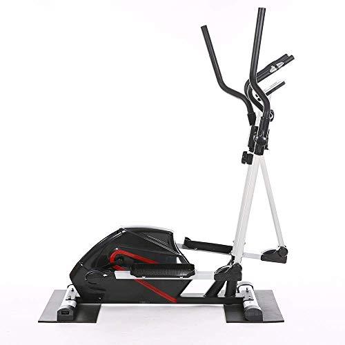 LHQ-HQ Tapis roulant Macchina ellittica Ellittica Trainer e Esercizio Bike Bici Fitness Cardio Workout con Sedile Black Ellittico Macchina Trainer (Colore: Nero, Dimensioni: 160.5x53x108cm)