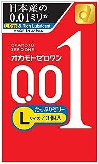 オカモト ゼロワン 0.01ミリ Lサイズたっぷりゼリー 3コ入×6個