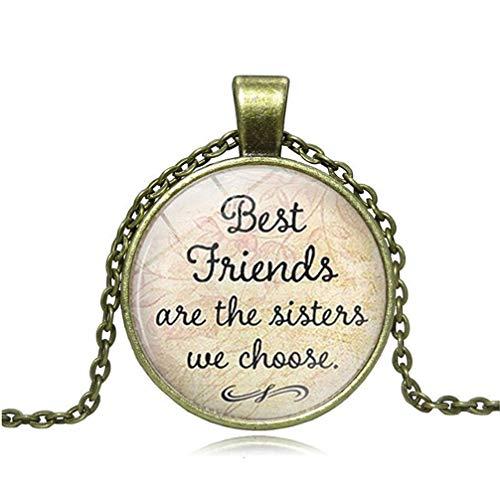 Toporchid Best Friends Are The Sisters We Choose Art Photo Colgante Collar Amistad Collar Regalo para Amigos (color cobre)