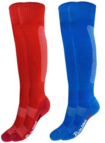 Rainbow Socks - Niño Niña Calcetines Fútbol Largos - 2