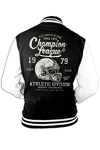 Herren College Jacke Champion Super Bowl American Football Old School