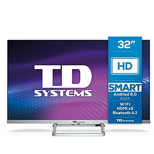 Oferta de TD Systems K32DLX11HS - Televisor Smart TV 32 Pulgadas Android 9.0 y HBBTV, 800 PCI Hz, 3X HDMI, 2X USB. DVB-T2/C/S2, Modo Hotel. Televisiones
