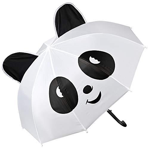 VON LILIENFELD Regenschirm Kinderschirm Panda Bär Junge Mädchen Leicht Stabil bis ca. 8 Jahre