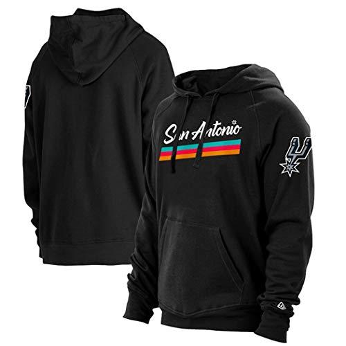 Suéter de Camiseta de Baloncesto para Hombre, Deportes Ocasionales Letter de la Juventud Sudadera con Capucha y otoño,S