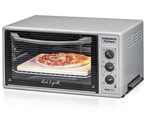 ROMMELSBACHER Maxi Ofen BG 1600 - 40 Liter Backraum, Temperatur von 60 - 250 °C, 4 Heizarten, Grill, Zeitschaltuhr, Innenbeleuchtung, 3 Einschubebenen, CLEANemail Beschichtung, 1600 Watt, anthrazit
