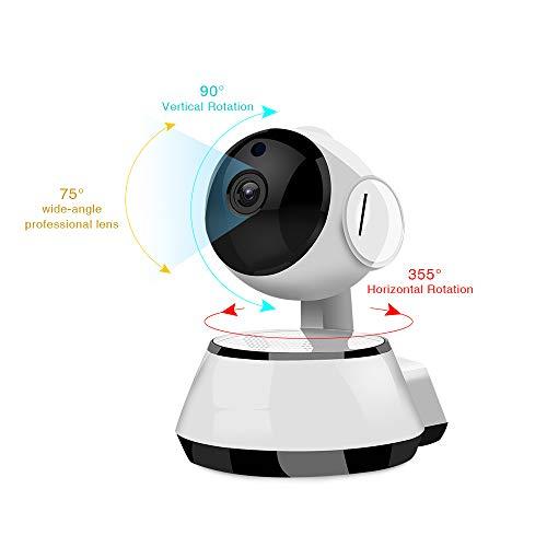 SYXZ Cámara de Seguridad 720P, cámara IP con monitorización de Seguridad para el hogar giratoria, con visión Nocturna de Alta definición/Audio bidireccional/monitoreo de Movimiento