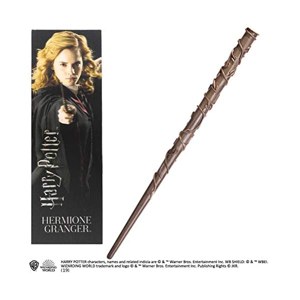 The Noble Collection Hermione Granger PVC Wand and Prismatic Bookmark 1