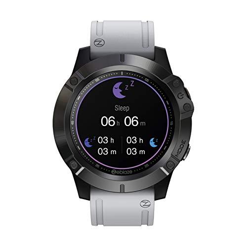 HQPCAHL Reloj Inteligente, IP67 A Prueba De Agua con Reproductor De Música Independiente, Llamadas por Bluetooth (Recibir/Realizar Llamadas), Pantalla Táctil Completa De 1.3',Gris