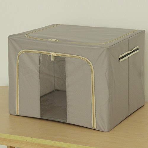XJZKA Caja de Almacenamiento de Tela Oxford, Marco de Acero Plegable, Caja de Almacenamiento de Ropa, Caja de Almacenamiento para el hogar, 40 * 50 * 35 cm, Gris Claro