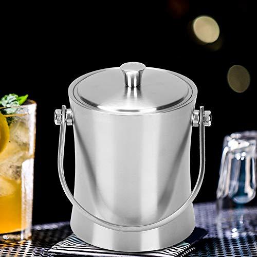 Haowecib Cubo de champán de Doble Pared, Cubo de Hielo de 1 litro Que Mantiene el Hielo congelado Durante más Tiempo para Enfriar la Cerveza, el champán y el Vino para la cafetería Familiar