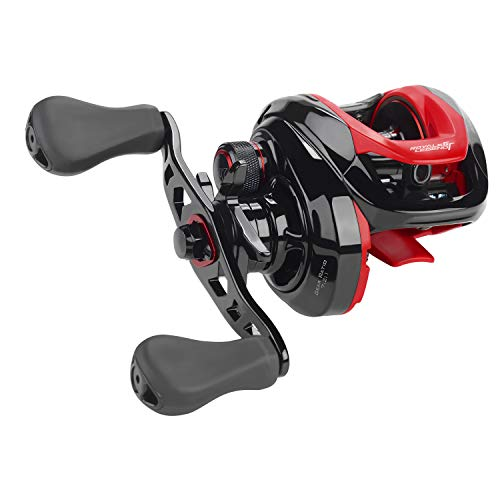 KastKing Royale Legend/Whitemax Low Profile Baitcasting Fishing Reel – 11 +1 Shielded Bearings, 17.5 Lb Carbon Fiber Drag (A: Right-Black)