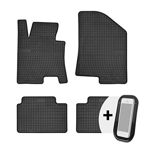 moto-MOLTICO Gummimatten Auto Fußmatten Gummi Automatten Passgenau 4-teilig Set - passend für Hyundai i30 II 2012-2016