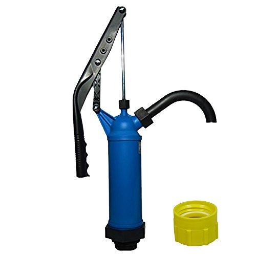 ABACUS Fasspumpe Vario mit variablem Hub + Adapter gelb für Gewinde Nr. 61 - geeignet für Alkohole, Benzin, Diesel, milde Laugen und milde Säuren - Handpumpe Hebelfasspumpe Ölpumpe Kerosinpumpe (7217)