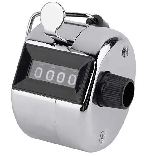 Goodplan Manueller Zähler 4-stellige Handzähler Metall-Hand-Clicker Mechanischer Palm-Klickzähler 1 Stck