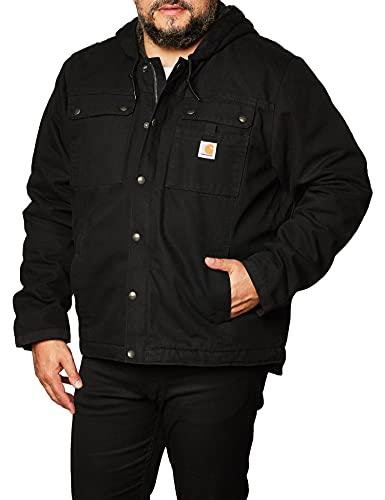 Carhartt Bartlett Jacket prendas de trabajo, Negro, L para Hombre