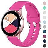 Wepro Correa Compatible con Samsung Galaxy Watch Active/Active2 40mm 44mm, Correa de Repuesto de Silicona Suave para Samsung Galaxy Watch 42mm/Gear S2 Classic/Gear Sport, Grande Rosa Roja