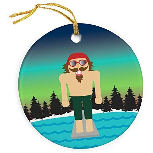 Cukudy Zwemmen Keramische Kerst Ornamenten 2018 Nieuwigheid Notenkraker Kerstmis