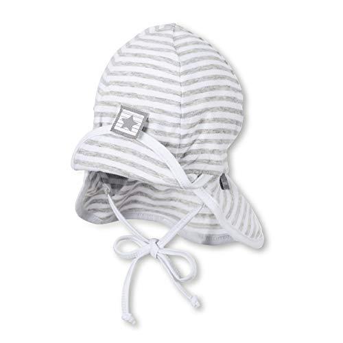 Sterntaler Baby-Jungen Flapper Kappe, (Weiss 500), Medium (Herstellergröße: 43)
