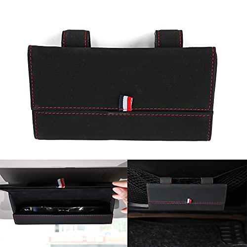 WIKIBB Gafas de sol de coche negro clip clip titular de gafas caso oculto cierre magnético organizador caja para auto Jeep Sun gafas abrazadera accesorios