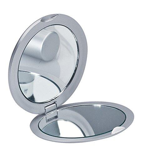 Taschenspiegel, Kosmetikspiegel, Reisespiegel einseitig mit Vergrößerung