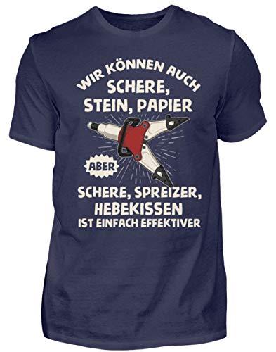 Feuerwehr - Schere Spreizer Hebekissen - Geschenk für Feuerwehrleute - Herren Shirt -3XL-Dunkel-Blau