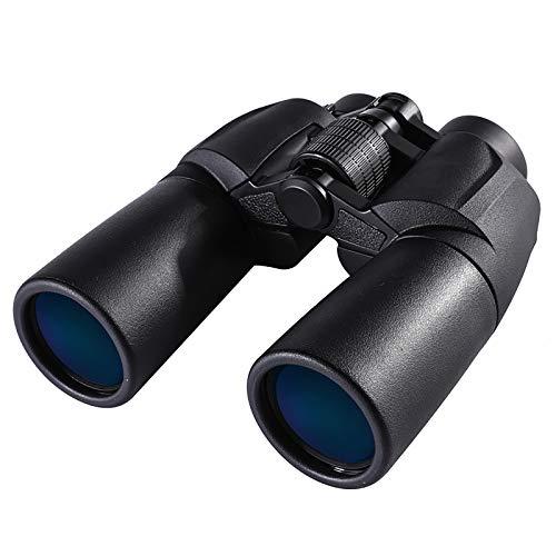 GAOXIAOMEI Binoculares 12X50 para Adultos Película Verde BAK4 de Alta definición FMC Binoculares Impermeables Visión Nocturna con Poca luz para Caza Camping Viajes Observación de Aves