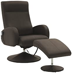 Sino-Living SE-909 massage chair with footstool, PU leather Mocca