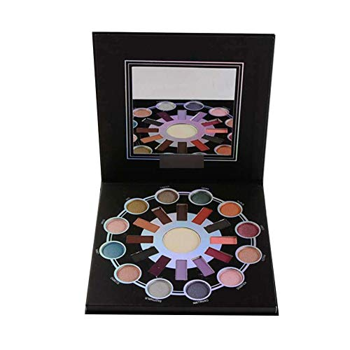 Wangyan 123 Matte Makeup Eyeshadow Palette Zodiac 24 Cuentas de Alto Brillo Beneficial