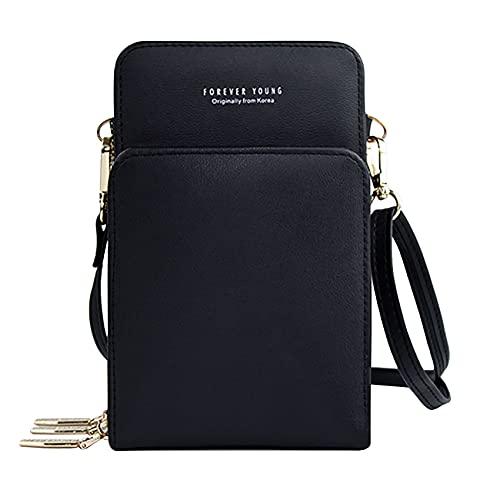 Small Crossbody Bag Lightweight Cell Phone Purse with 2 Straps Cellphone Purse Crossbody Purse for Women