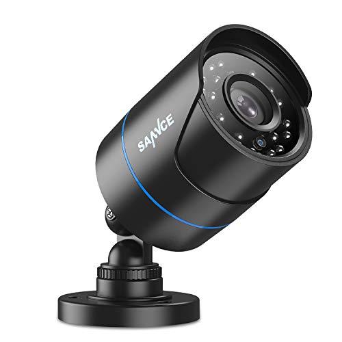 SANNCE AHD/TVI/CVI/CVBS Cámara de seguridad 4 en 1 1080p IP66 resistente a la intemperie, cámara de vigilancia analógica CCVT para uso en interiores y exteriores, cámara de visión nocturna de 100 pies