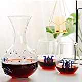 Whiskey Carafe Whiskey Glass and Decanter Set, 1000ml Free Crystal Whiskey Decanter con 2 gafas de whisky 300ml, diseño de octopos grabado, es un gran regalo de whisky de whisky para hombres