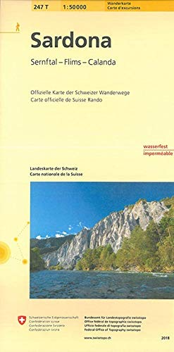 247T Sardona Wanderkarte: Sernftal - Flims - Calanda (Wanderkarten 1:50 000)