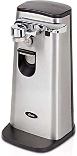 Oster Retractable Cord Stainless Steel Can Opener, 10.4 inches high x 6 inches wide x 5.2 inches long