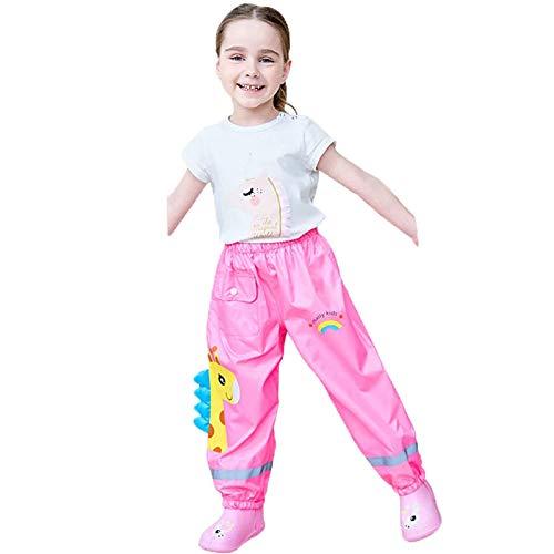 Niños de 1 a 6 Años  Basic Chaqueta y Pantalones Impermeables para Niñas, Ropa Impermeable con Tiras Rayas Reflectantes Impermeable para Niños,Mono Negro, Azul, Amarillo