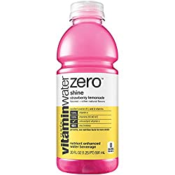 vitaminwater zero shine, electrolyte enhanced water w/ vitamins, strawberry lemonade drink, 20 fl oz