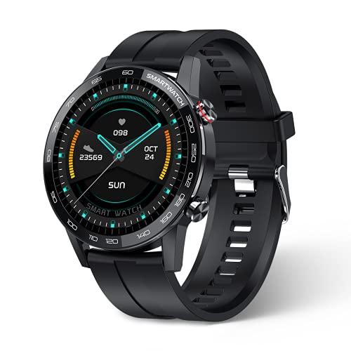 Smartwatch Uomo Orologio Uomo Smartwatch Impermeabile IP68 Fitness Tracker Regalo per Uomini Donne Cronometro Contapassi 1.3   Schermo a Colori Tattile Completo,per iOS Android(Black)