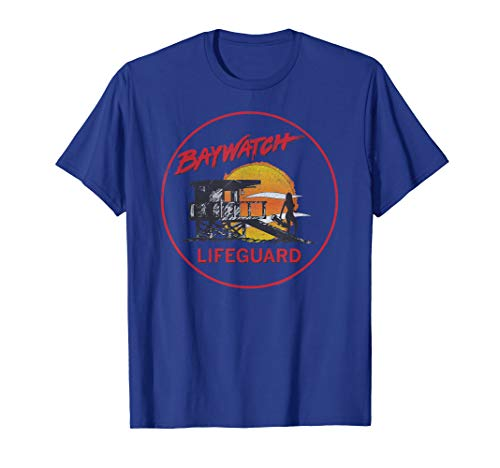 Baywatch Lifeguard Tower T-Shirt, Blue, Many Colors for Adults and Kids