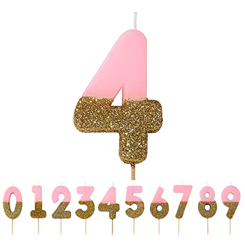 We Heart Birthdays Glitter Number Candle 4