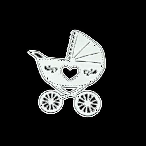 Kcibyvx Stanzschablone Kinderwagen,Prägeschablonen Stanzformen Schablonen für Scrapbooking, Fotopapier, Karten,DIY Herstellung Das Erntedankfest Ostern Geburtstag Neujahrsgeschenk