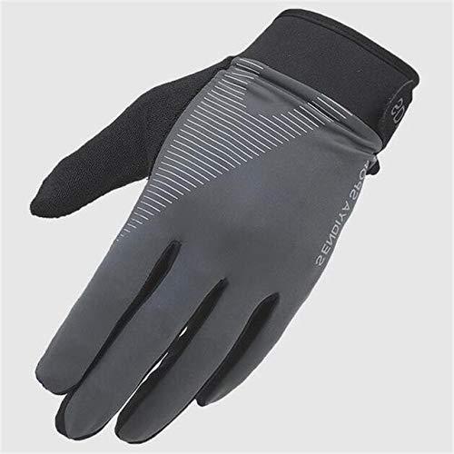 Guantes para Montar con los Dedos completos para Mujer, para Hombres, Invierno, Pantalla táctil a Prueba de Viento, Guantes para Moto, Parabrisas - G082 Gris, Talla única