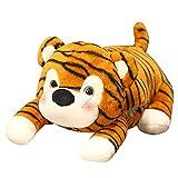 Peluche 1 Pieza 40cm Lindo Tigre Multifuncional de Peluche de Juguete de Dibujos Animados Tigre agachado Calentador de Manos Almohada Suave Regalo de cumpleaños para niñas y niños