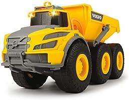 Dickie 203723004 Construction Wywrotka Volvo Ze Światłem I Dźwiękiem 203723004 ,żółty / szary