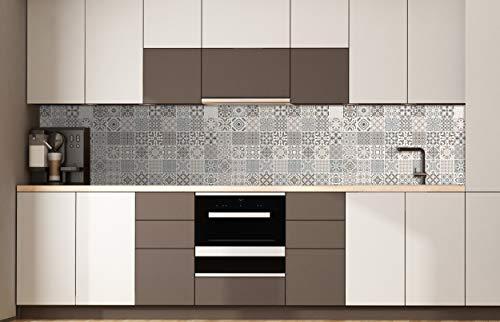 Oedim 4 Módulos Decoración Pared Cocina Imitación Azulejos | Protección antisalpicaduras | Panelado en Aluminio Dibond | 60 x 40 cm | Protección Frontal de cocinas, Decoración Pared de Cocina |