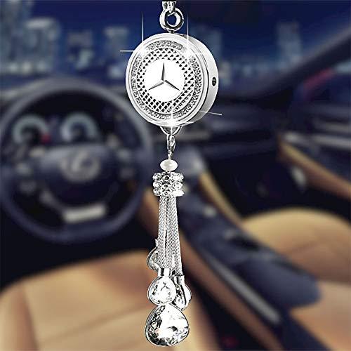Auto Logo Duft Lufterfrischer Spender Diamant Ornament für Auto Emblem Duftspender Rückspiegel Anhänger Duftspender Luxus Parfum Autozubehör Innenraum