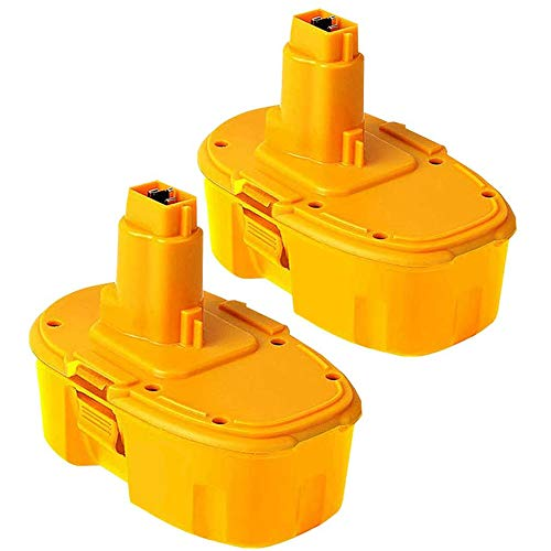 2 Pack 18V 4.0Ah DC9096 Ni-MH Replacement Battery for Dewalt 18Volt DC9099 DC9098 DE9039 DW9099 DW9096 DW9098 DC9181 Cordless Power Tools