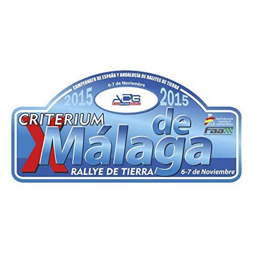 Pegatina Placa Rally CRITERIUM DE MÁLAGA 2015 Adhesivo Vinilo PR355