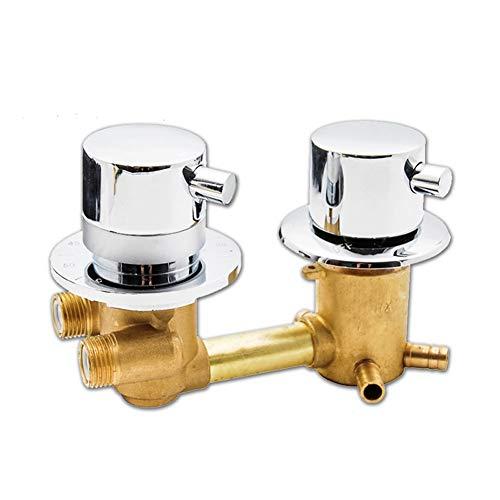Grifo Ducha Termostatico, válvula de desvío de baño Intubate de 2/3/4 vías, grifo de termostatico doble expuesto de latón, grifo de agua fría y caliente montado en la pared ( Size : 3 out 14.5cm )
