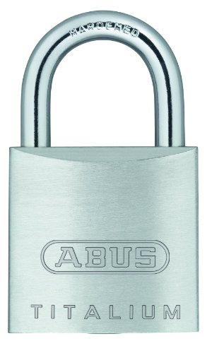 ABUS 64TI/25 Titalium Aluminum Alloy Padlock Keyed Different - Nano Protect Steel Shackle
