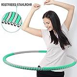 Fitness Hula Reifen Fitnesskreis Fitness Hoop zur Gewichtsreduktion,Verdicktes Edelstahlrohr für Erwachsene und Kinder Für Fitness/Zuhause/Bauchformung
